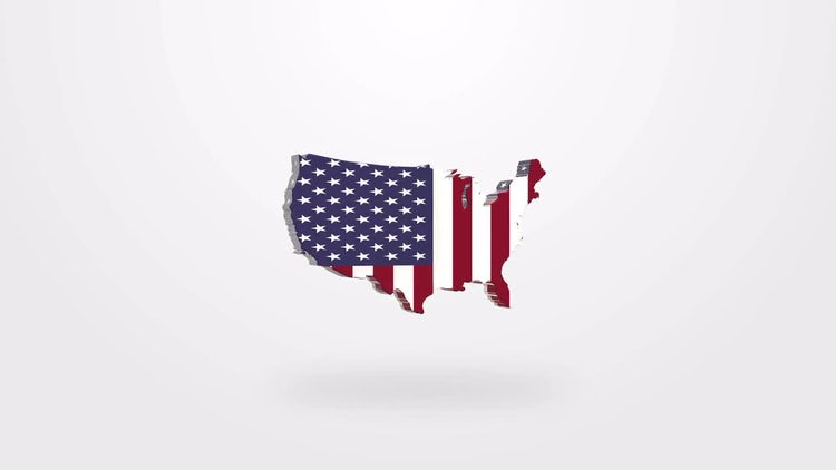 US Flag Map: Stock Motion Graphics