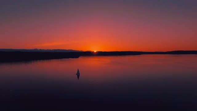 Panoramic View Of Beautiful Sunset: Stock Video