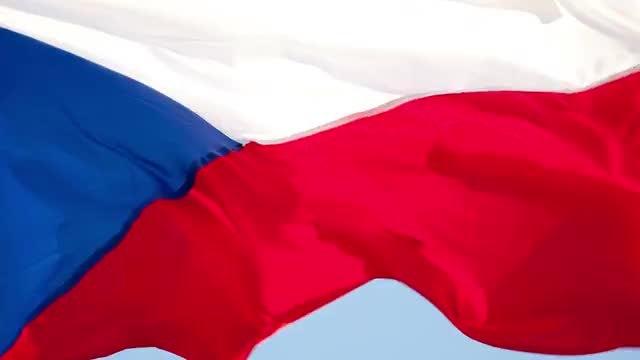 Czech Republic Flag: Stock Video