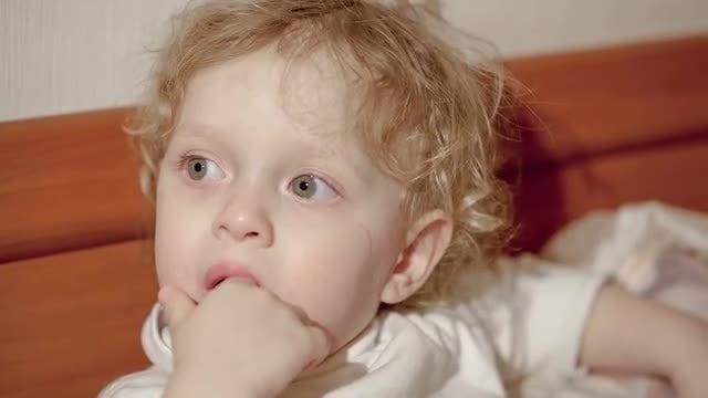 Little Boy Closeup: Stock Video