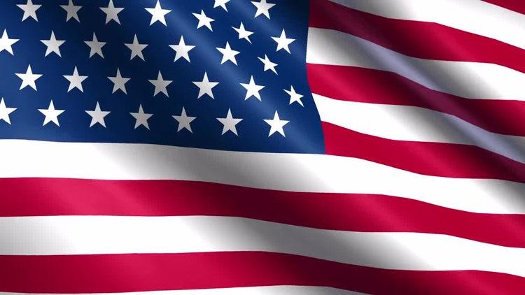 Seamless USA Flag: Motion Graphics