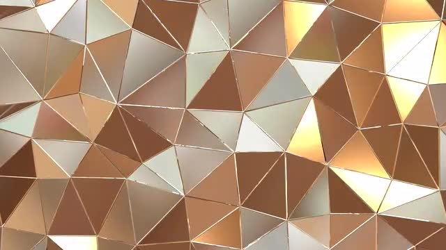 Gold Metallic Poly-Sided Surface Loop: Stock Motion Graphics