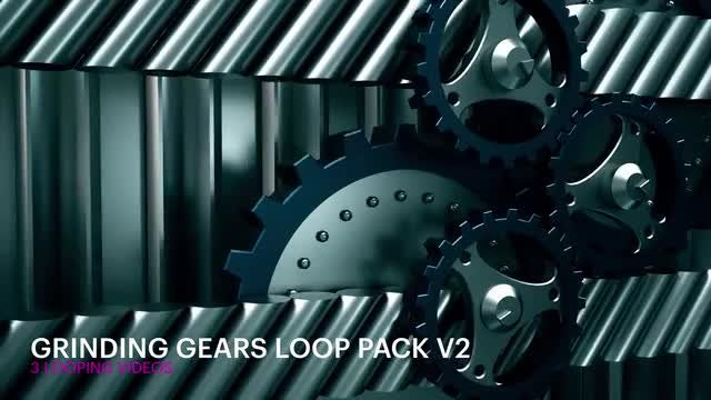 Grinding Gears Loop Pack V2: Stock Motion Graphics