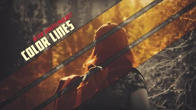 Color Lines: After Effects Templates
