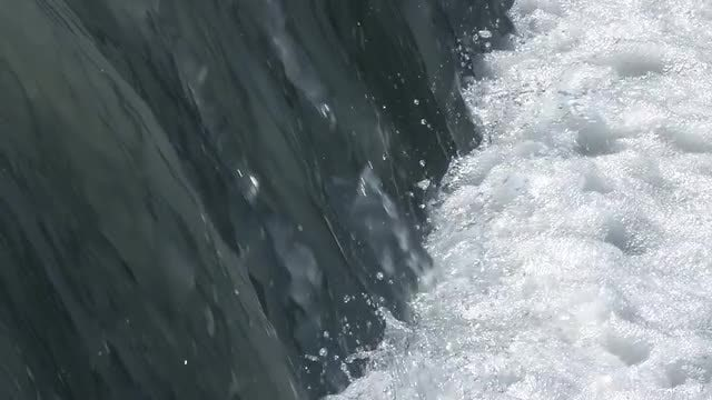 Wide Water Canal Flowing Slowly: Stock Video