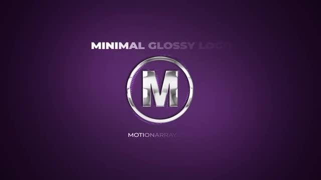 Minimal Glossy Logo: After Effects Templates