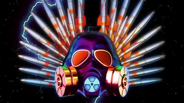 Gas Mask And Loading Missiles: Stock Motion Graphics