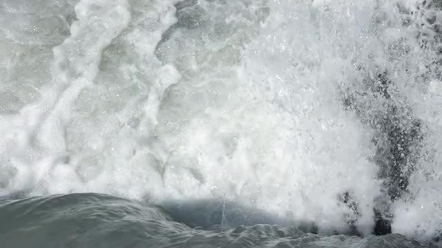 Waterfall With Foamy Water: Stock Video