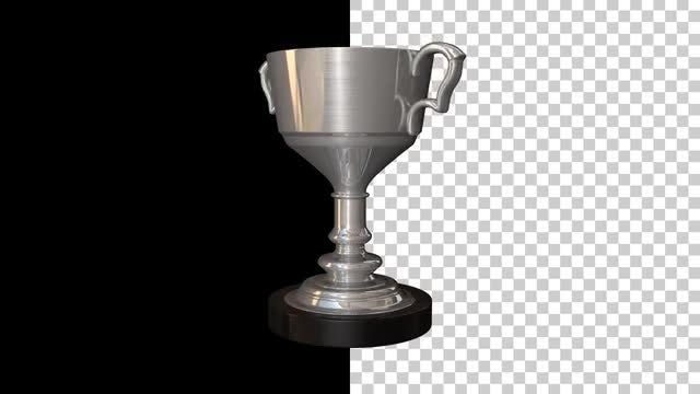 Sports Cup Silver Trophy: Stock Motion Graphics