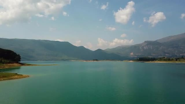 Aerial View Of Beautiful Lake And Mountains: Stock Video