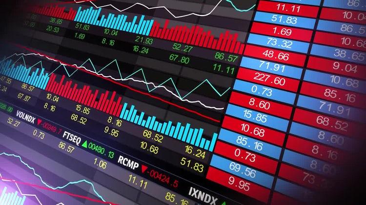 Stock Market Board: Stock Motion Graphics