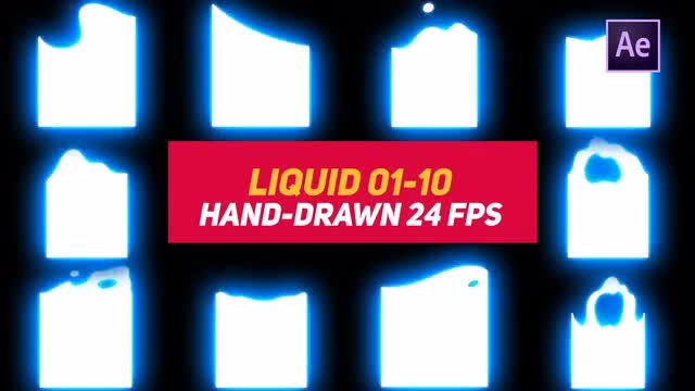 Liquid Elements 3 Liquid 01-10: After Effects Templates