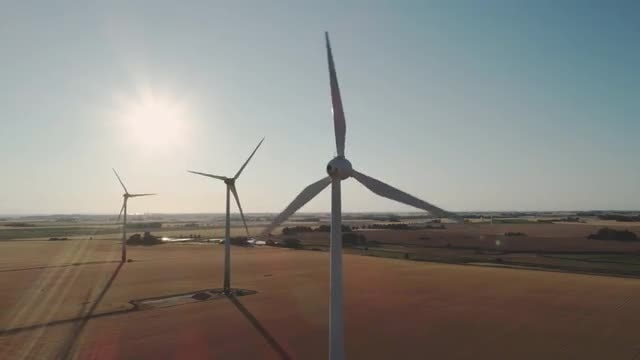 Wind Turbines: Stock Video