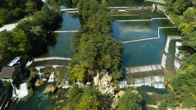 Aerial Shot Of Water Canal: Stock Video