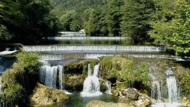 Close-up Shot Of Beautiful Waterfall: Stock Video