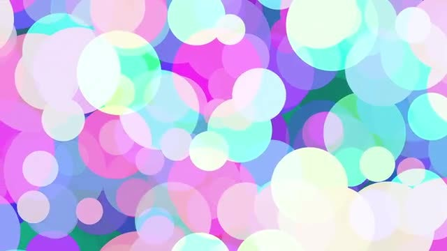 Colored Circles Background: Stock Motion Graphics