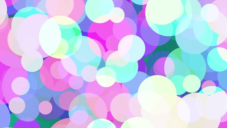 Colored Circles Background: Motion Graphics