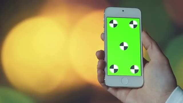 Smartphone And Bokeh Lights: Stock Video