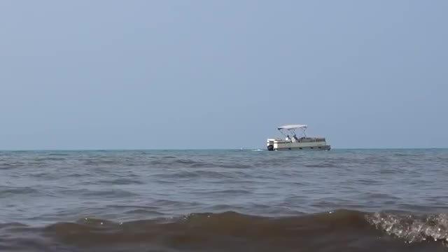 Small Passengar Boat At Sea: Stock Video