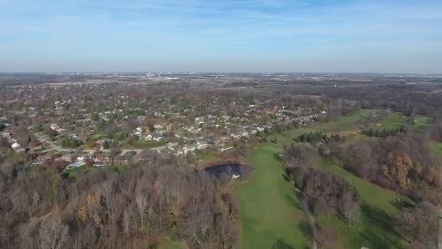 Golf Course And Neighborhood: Stock Video