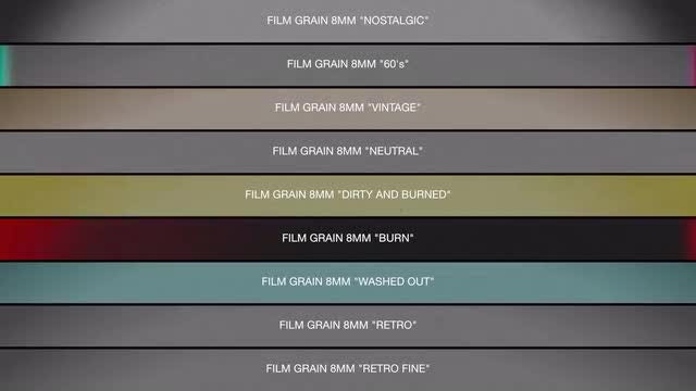Film Grain 8mm Collection: Stock Motion Graphics