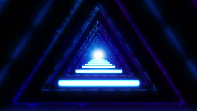 Trippy Triangle Tunnel VJ Loop: Stock Motion Graphics