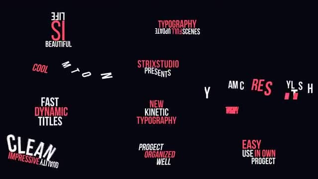 Kinetic Typography 2: Motion Graphics Templates