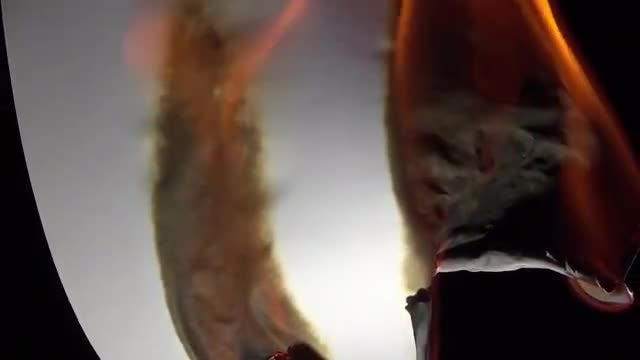 White Sheet Of Paper Burning: Stock Video
