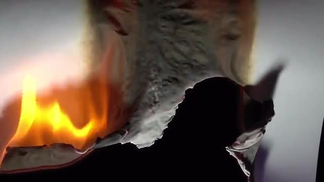 White Sheet Of Paper Burning: Stock Video