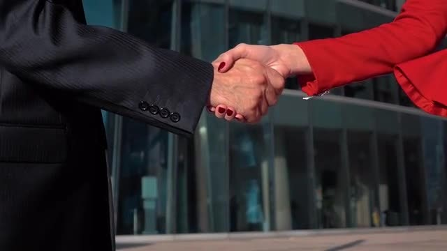 Two Colleagues Shaking Hands: Stock Video