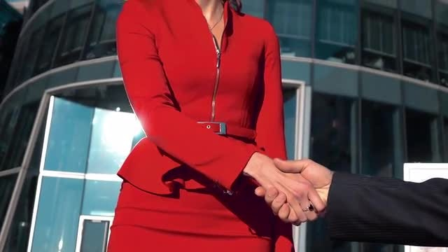 Businesswoman Shaking Hands: Stock Video