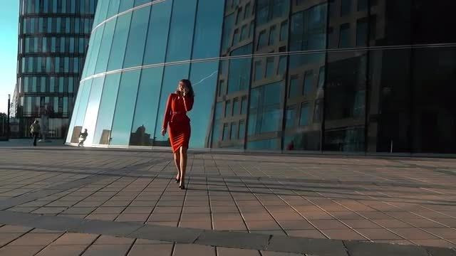 Businesswoman Talking On Smartphone: Stock Video