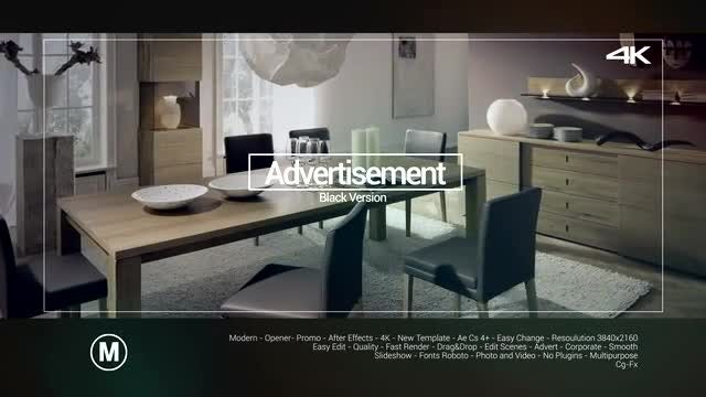 Advertisement Black Version: After Effects Templates