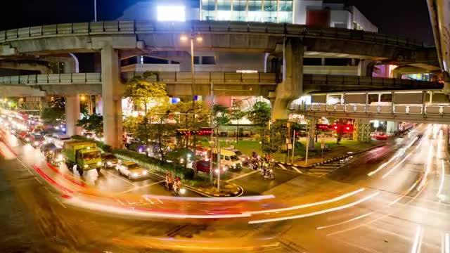 Time Lapse Of Bangkok Traffic: Stock Video
