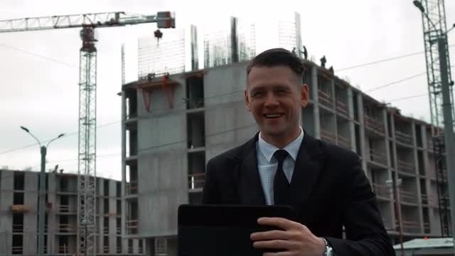 Male Architect Using Digital Tablet: Stock Video