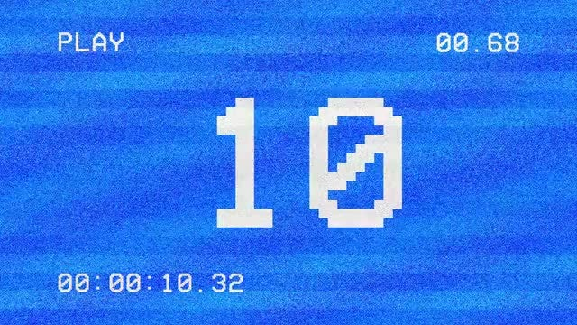 VHS Screen Countdown Pack: Stock Motion Graphics