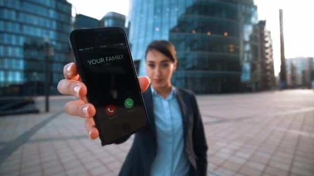 Businesswoman Showing Incoming Call: Stock Video