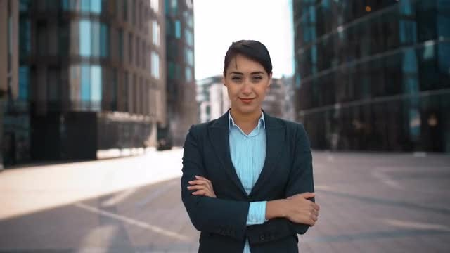 Young Businesswoman Smiling For Camera: Stock Video