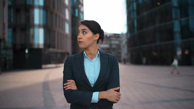 Young Businesswoman Disapproving Something: Stock Video