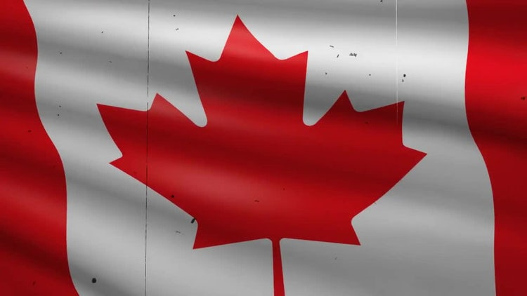 Canada Flag Background: Stock Motion Graphics