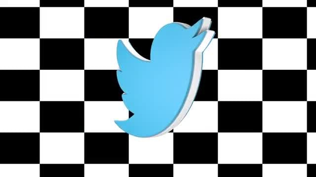 Twitter Spin Logo: Stock Motion Graphics