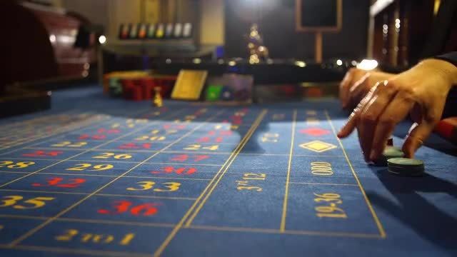 Two Men Playing Roulette: Stock Video