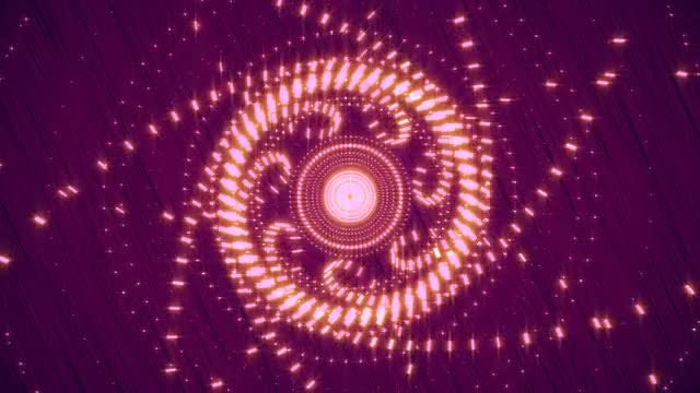 Purple Lights Geometric Patterns Loop: Stock Motion Graphics