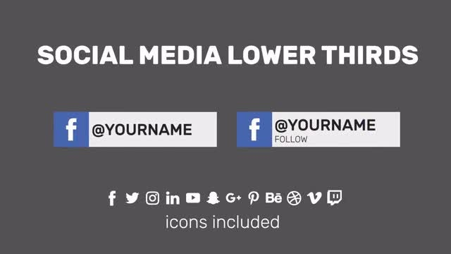 Social Media Lower Third: Motion Graphics Templates