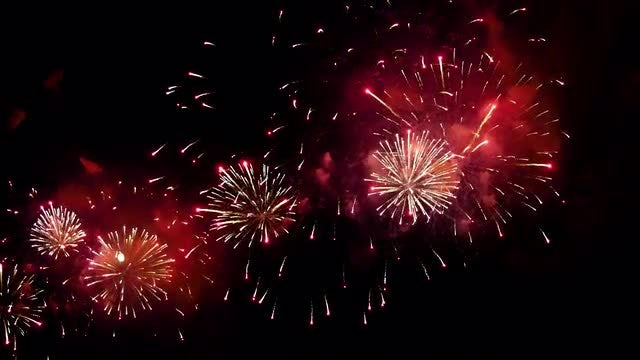 Explosion Of Colorful Fireworks: Stock Video