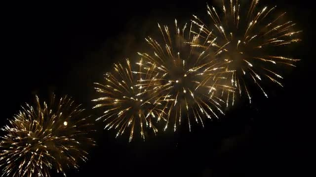 Fireworks Exploding At Night: Stock Video