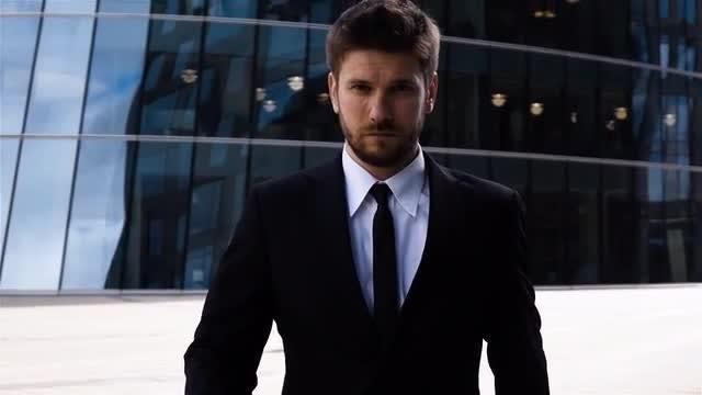 Businessman Walking Outside: Stock Video
