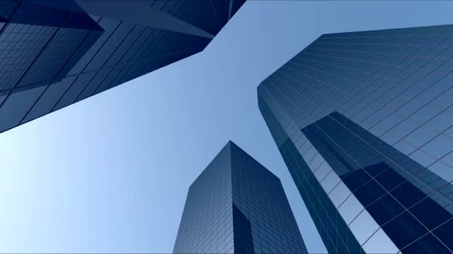 Blue City Buildings Pack: Stock Motion Graphics