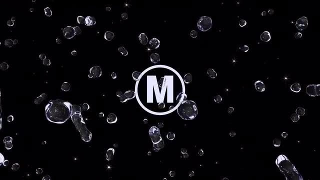 Water Droplets Splash Logo: Premiere Pro Templates