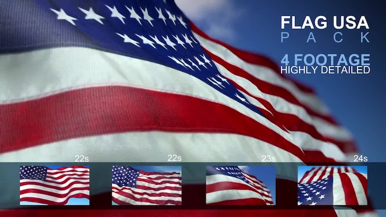 Flag USA Pack: Stock Motion Graphics